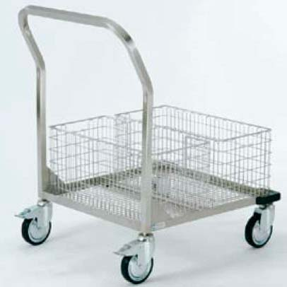 Stainless Steel Medical Transport Storage Trolleys Sterilization Material
