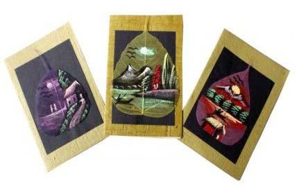 Dry Leaf Greeting Cards