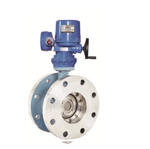 Electric Actuator Operated Double Offset Disc Butterfly Valves