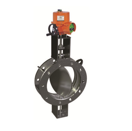 Electric Actuator Operated Fabricated Double Flange Damper Valves