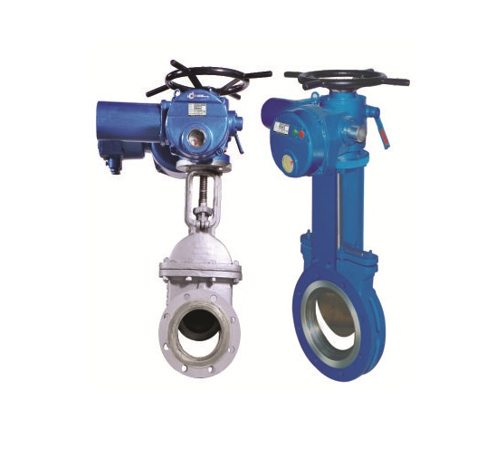 Electric Actuator Operated Knife Gate Valves Manufacturer