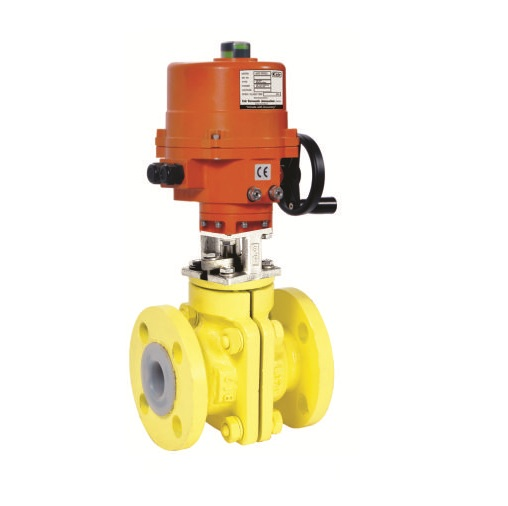 Electrical Actuator Operated PTFE (FEP-PFA) Lined Ball Valves