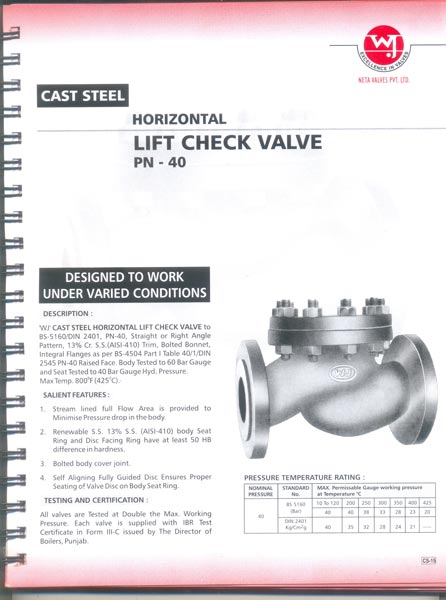 Cast Steel Lift Check Valves