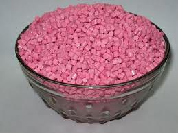 Pink ABS Granules