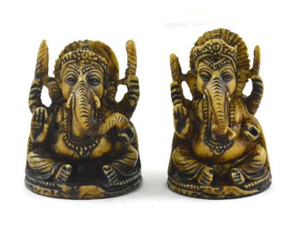 Handmade Antique Resin Baby Ganesha Statue 01