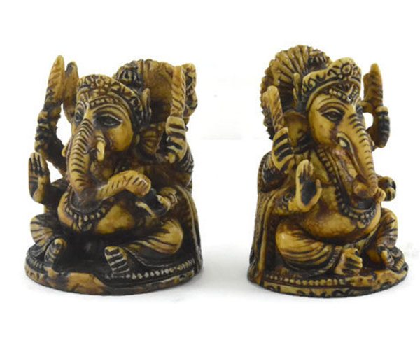 Handmade Antique Resin Baby Ganesha Statue 03