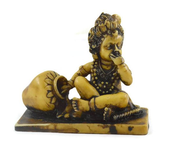 Handmade Antique Resin Baby Krishna Statue 01