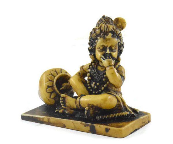 Handmade Antique Resin Baby Krishna Statue 02