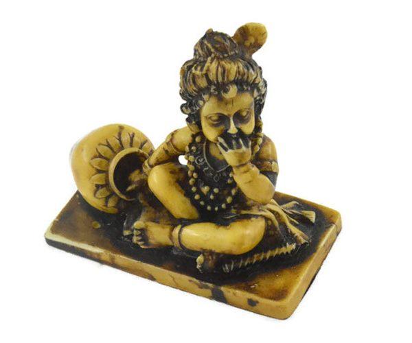 Handmade Antique Resin Baby Krishna Statue 03