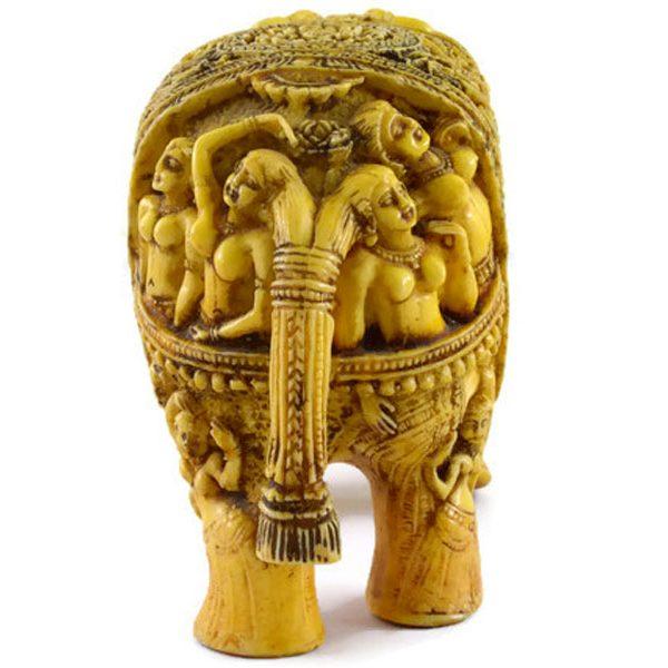 SKU-EIIR0032 Handmade Antique Resin Elephant Statue 03