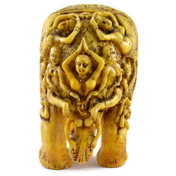 SKU-EIIR0032 Handmade Antique Resin Elephant Statue 06