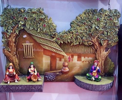 Rajasthani Village Scene Mural 01