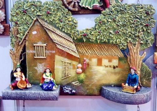 Rajasthani Village Scene Mural 02