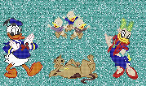 Cartoon Mosaic Tiles