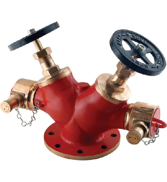 Gunmetal Double Outlet Hydrant Valve