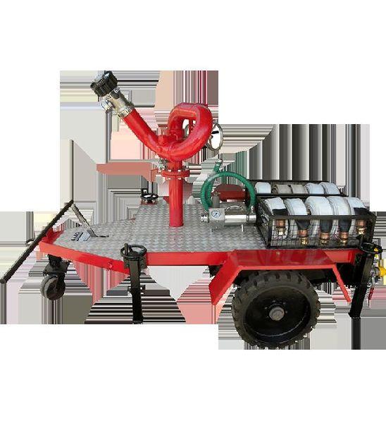 Carbon Steel Fire Monitor Trolley