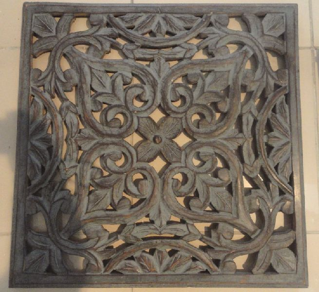 Fresh Wooden Carved Wall Decor Manufacturer Supplier in Saharanpur India BI56