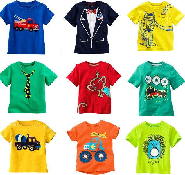 Boys Round Neck T-Shirts
