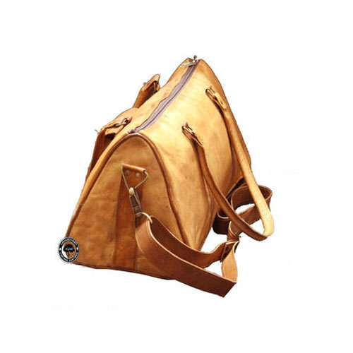 Triangle Leather Duffle Bags