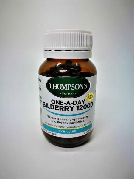 Thompson One-A-Day Bilberry 12000 Capsules