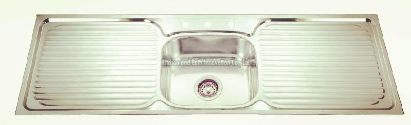Stainless Steel One Bowl Two Drain Sink