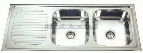 KBDB12050BR Stainless Steel Two Bowl One Drain Sink