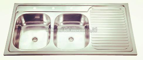 KBDB12060 Stainless Steel Two Bowl One Drain Sink