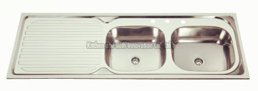KBDB15050R Stainless Steel Two Bowl One Drain Sink