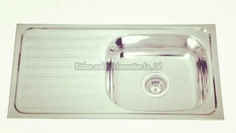 KBEB7540R Stainless Steel One Bowl One Drain Sink