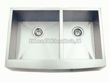 KBHD3620 Stainless Steel Apron Farm Double Bowl Sink