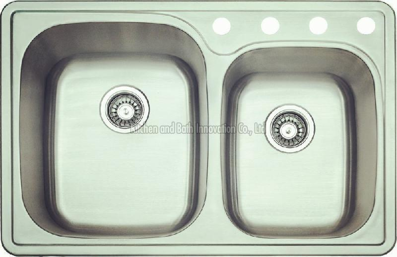 KBTD3322B Stainless Steel Topmount Double Bowl Sink