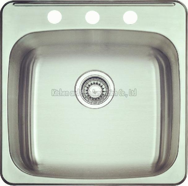 KBTS2021 Stainless Steel Topmount Single Bowl Sink