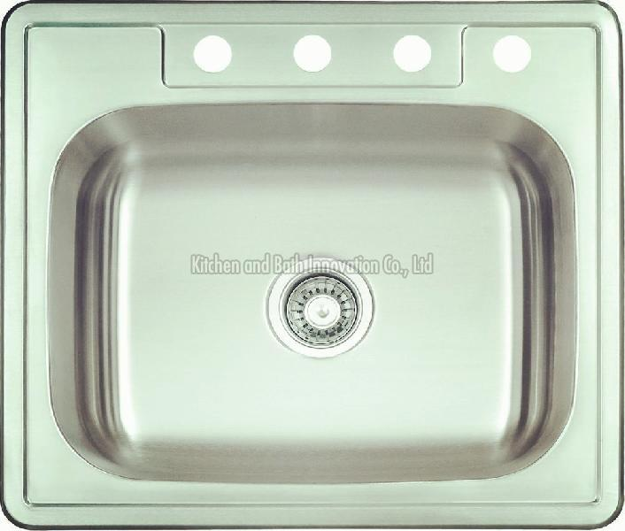 KBTS2522 Stainless Steel Topmount Single Bowl Sink