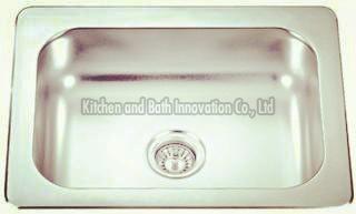 KBTS6040 Stainless Steel Topmount Single Bowl Sink