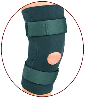Knee Support Cap with Hinges