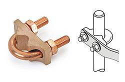 Copper U Bolt Rod Clamps