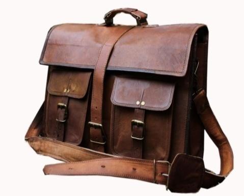 PH001 Leather Messenger Bag
