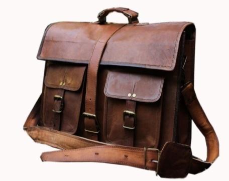 PH003 Leather Messenger Bag