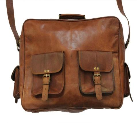PH026 Leather Messenger Bag