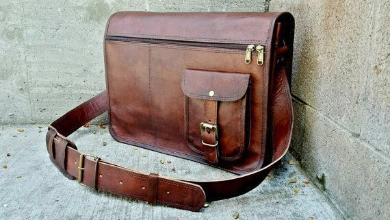 PH029 Leather Laptop Bag