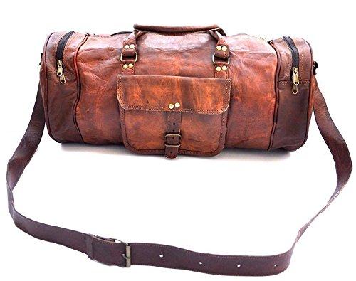 PH056 Genuine Leather Duffle Bag
