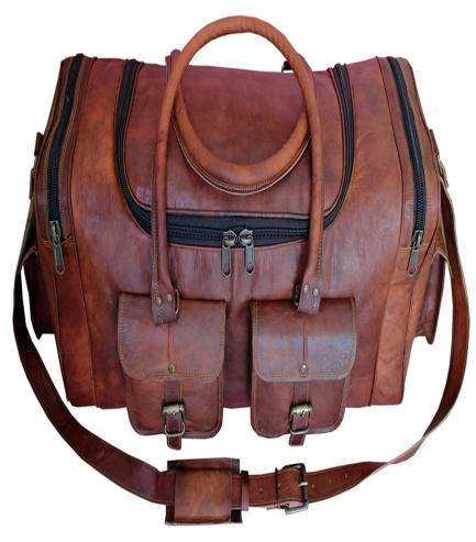 PH057 Genuine Leather Duffle Bag