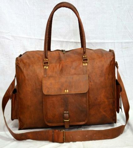 PH060 Genuine Leather Duffle Bag