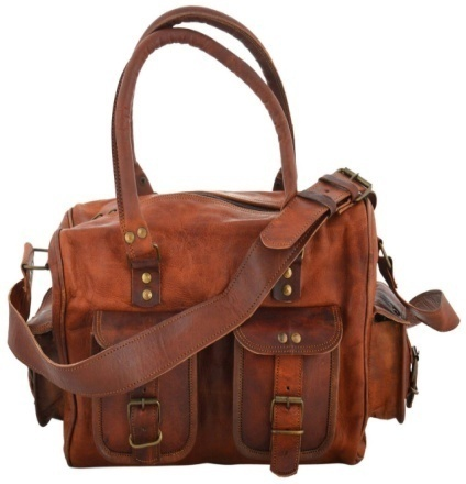 PH061 Genuine Leather Duffle Bag