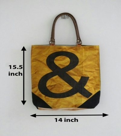 PH084 Canvas Mix Leather Tote Bag