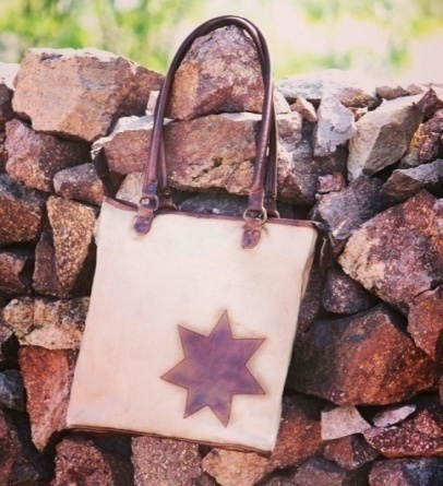 PH085 Canvas Mix Leather Tote Bag