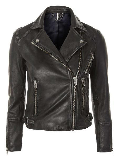 Ladies Black Fashion Leather Jackets