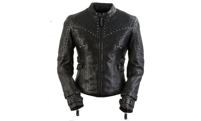 Ladies Black Motorcycle Leather Jackets