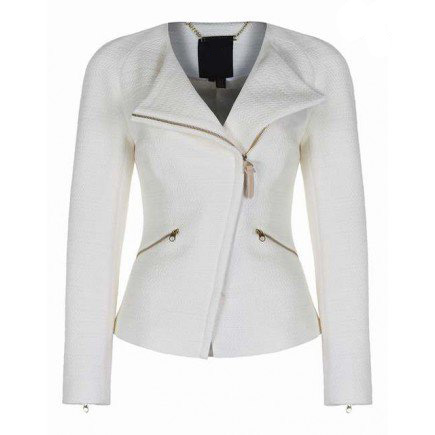 Ladies Bright White Fashion Leather Jackets