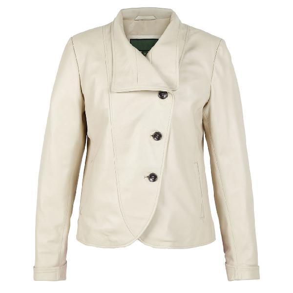 Ladies Dull White Fashion Leather Jackets